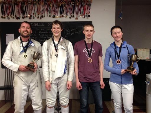 2013-LaSalle-Challenge-foil-medallists